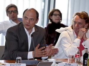 Michael Bayer (l); Foto: Jens Becker