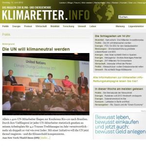 Screenshot: www.klimaretter.info