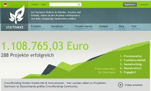 Screenshot von startnext.de