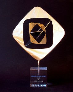 Die Trophäe für Wikipedia, Preisträger 2005 (Quelle: http://de.wikipedia.org)