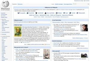 Startseite der deutschsprachigen Wikipedia