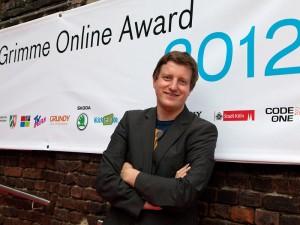 """Der Leiter von """"Sueddeutsche.de"""", Stefan Plöchinger, beim Grimme Online Award 2012."""