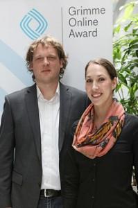 Friedemann Rincke und Sarah Stewart von Hotel Silber Foto: Grimme-Institut/Arkadiusz Goniwiecha