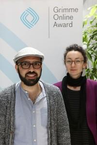 Imad Mustafa und Tunay Önder von dasmigrantenstadl Foto: Grimme-Institut/Arkadiusz Goniwiecha