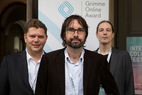 Marcus Schwarze, Dietmar Telser und Thorsten Schneiders Foto: Grimme-Institut / Arkadiusz Goniwiecha