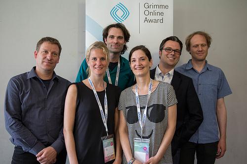 Das Team der Deutschen Welle und des Goethe-Instituts Foto: Grimme-Institut / Arkadiusz Goniwiecha