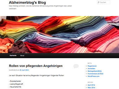 "Screenshot ""Alzheimerblog's Blog"""