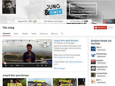 "Screenshot ""Jung & Naiv"""