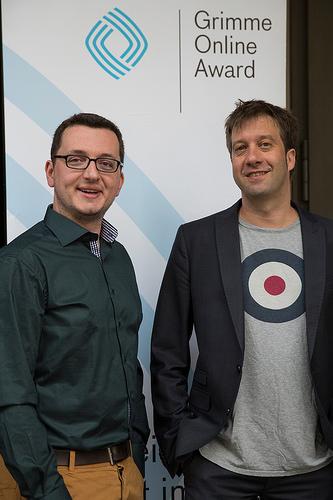 David Ohrndorf und Stefan Domke vom WDR Foto: Grimme-Institut / Arkadiusz Goniwiecha