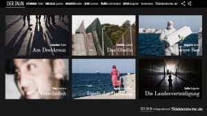 """Screenshot des Multimedia-Specials """"Der Zaun"""" der Süddeutschen Zeitung."""