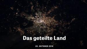 """Screenshot von """"Das geteilte Land"""" von Zeit Online."""