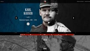 """Screenshot von """"14 - Tagebücher des Ersten Weltkriegs""""."""