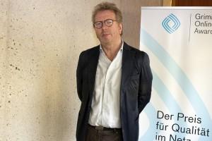 """Cordt Schnibben von """"Mein Vater, ein Werwolf""""; Foto: Grimme-Institut / Jens Becker"""