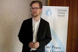 """Christian Humborg, ebenfalls Geschäftsführer von """"CORRECT!V""""; Foto: Grimme-Institut/Jens Becker"""