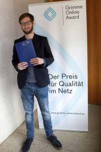 Donatien Huet vom Projekt Refugees – 4 Monate, 4 Camps; Foto Grimme-Institut /  Jens Becke