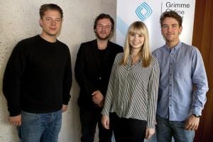 """Einige Mitwirkende des Projekts """"M29 – Berlins Buslinie der großen Unterschiede""""""""; Foto: Grimme-Institut / Jens Becke"""
