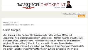 """Screenshot Newsletter """"Checkpoint"""""""