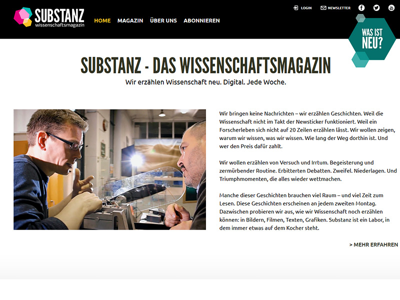 "Screenshot ""Substanz"""