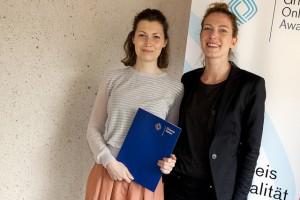 """Regina Lechner & Sabrina Markutzyk  von """"neukoellner.net""""; Foto Grimme-Institut / Jens Becker"""