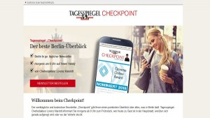 "Screenshot Anmedlung zum Newsletter ""Checkpoint"""