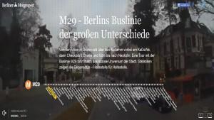 """Screenshot """"M29 – Berlins Buslinie der großen Unterschiede"""""""