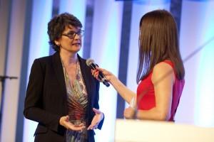 Grimme-Direktorin Dr. Frauke Gerlach im Interview mit Moderatorin Sandra Rieß.
