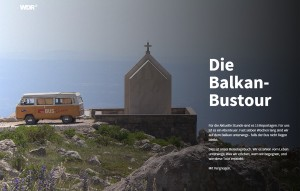 Screenshot der Multimedia-Reportage von Christian Dassels Bustour für den WDR.