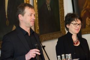 Torsten Meyer (Universität zu Köln) und Frauke Gerlach (Grimme-Institut) begrüßen, Foto: Grimme-Institut/Rainer Keuenhof