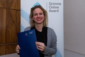 Franziska von Kempis bei der Nominierung für den Grimme Online Award 2016. Foto: Grimme-Institut / Rainer Keuenhof