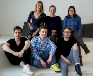 Das Team (v.l.n.r.): Nikolas Kappe, Julia Althoff, Nico Bekasinski, Franziska von Kempis, Maximilian Peiser, Franziska Becher; Foto: MESH Collective