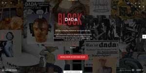 Screenshot: User können den Dada-Ad-Blocker verwenden, um statt lästiger Internetwerbung, Dada-Kunstwerke eingeblendet zu bekommen.