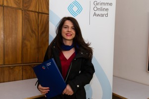 Anita Hugi bei der Nominierung für den Grimme Online Award 2016. Foto: Grimme-Institut / Rainer Keuenhof