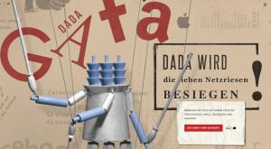 Während der damaligen Dada-Bewegung kämpfte man gegen das Bürgertum – heute gegen Internetriesen wie Amazon, Apple, Facebook und Co.