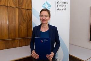 Katja Dünnebacke bei der Nominierung für den Grimme Online Award 2016. Foto: Grimme-Institut / Rainer Keuenhof