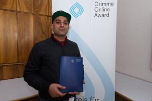 Hammed Khamis bei der Nominierung zum Grimme Online Award 2016. Foto: Grimme-Institut / Rainer Keuenhof