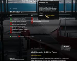 Screenshot: Die Bau-Fortschritte des BER.