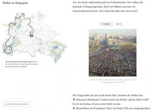 Screenshot: Die Berliner Mauer damals und heute.
