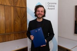 Julius Tröger bei der Nominierung für den Grimme Online Award 20116. Foto: Grimme-Institut / Rainer Keuenhof