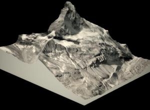 Das 3D-Modell des Matterhorns. Modell: Pix4D
