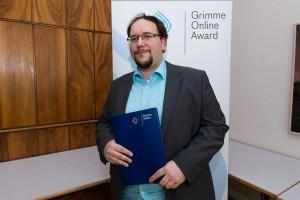 Johannes Wolf bei der Nominierung für den Grimme Online Award 2016. Foto: Grimme-Institut / Rainer Keuenhof