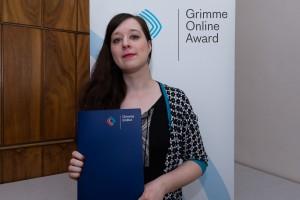 Karolin Schwarz bei der Nominierung; Foto: Grimme-Institut / Rainer Keuenhof