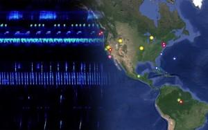 Bavigation auf der Webseite über eiine Weltkarte. Screenshot: Andreas von Bubnoff