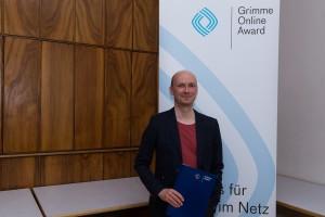 Martin Fischer bei der Nominierung für den Grimme Online Award 2016. Foto: Grimme-Institut / Rainer Keuenhof