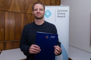 Christian Mack bei der Nominierung für den Grimme Online Award 2016. Foto: Grimme-Institut / Rainer Keuenhof