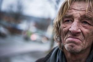 Der Obdachlose Peter True in Bremen. Foto: China Hopson