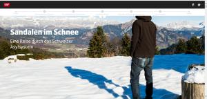 """Screenshot """"Sandalen im Schnee"""""""