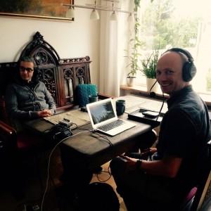 Aufnahme der Podcast-Folge 62 mit Gast Tom Siewert (links) und Martin Fischer. Foto: Staatsbürgerkunde