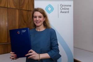 Chefredakteurin Tamina Kutscher bei der Nominierung zum Grimme Online Award 2016. Foto: Grimme-Institut / Rainer Keuenhof
