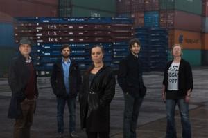 Das Team (v.l.n.r.): Jan Matti Dollbaum, Friederike Meltendorf, Leonid Klimov, Alena Göbel. Foto: Mauricio Bustamante