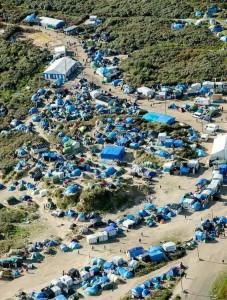 Vogelperspektive auf das Camp; Foto: Hammed Khamis